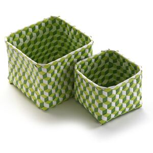 Set 2 coșulețe Versa Baskets Small,verde