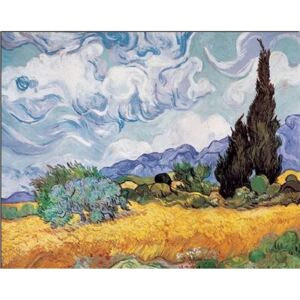 A Wheatfield with Cypresses, 1889 Reproducere, Vincent van Gogh, (120 x 90 cm)