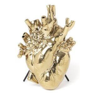 Vaza aurie din portelan 25 cm Love In Bloom Gold Seletti