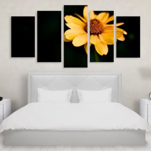 Tablou Multicanvas 5 Yellow Flower