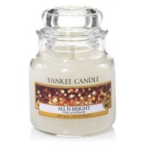 Yankee Candle albe parfumata lumanare All is Bright Classic mica