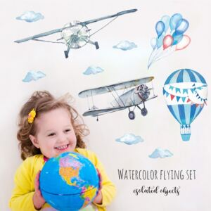 Sticker perete Baloons and Planes