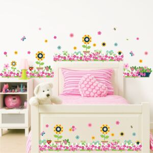 Sticker perete / geam Happy Flowers