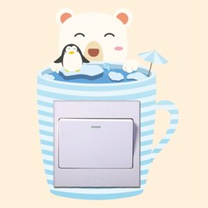 Sticker intrerupator Teacup Pinguini