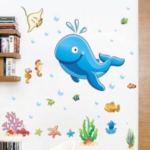 Sticker perete Happy Whale