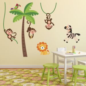 Autocolant Ambiance Happy Animals