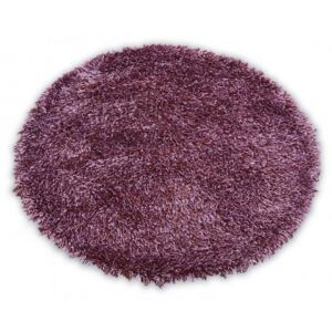 Covor Love Shaggy rotund model 93600 violet cerc 120 cm
