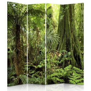 CARO Paravan - Jungle | cvadripartit | unilateral 145x150 cm