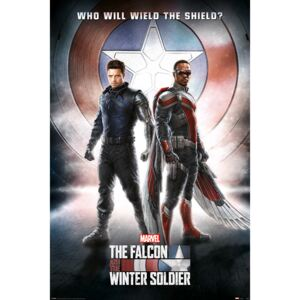 Poster The Falcon and the Winter Soldier - Wield The Shield, (61 x 91.5 cm)