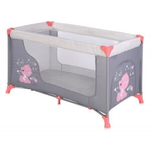 Lorelli - Pat pliant Moonlight, 1 nivel, Pink, Grey My Baby
