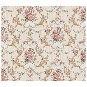 Tapet hartie model ornamental/floral 10,05x0,53 m