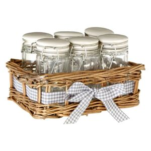 Set 6 recipiente pentru condimente Premier Housewares Country Cottage, 16 x 10 cm