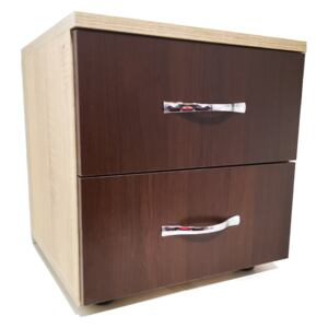 Noptiera Sonoma cu 2 Sertare Wenghe 40x40x42 5 cm Pal 18mm si cant ABS