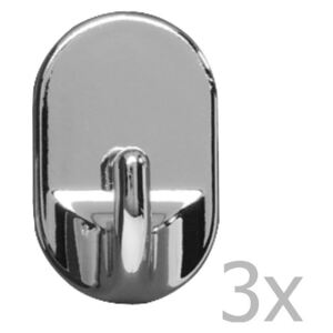 Set 3 cârlige de perete Wenko Medium Oval Hooks Chrome