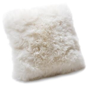 Pernă din blană de oaie Royal Dream Sheepskin, 45 x 45 cm, alb