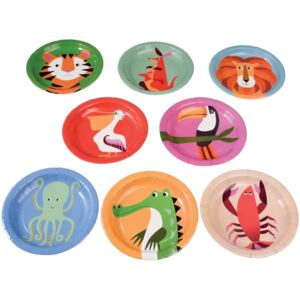 Set 8 farfurii din hârtie Rex London Colourful Creatures