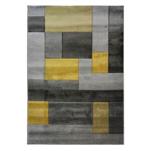 Covor Flair Rugs Cosmos Grey Ochre, 80 x 150 cm
