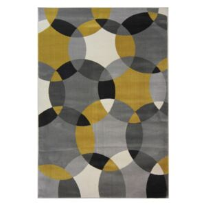 Covor Flair Rugs Cocktail Cosmo Grey Ochre, 80 x 150 cm