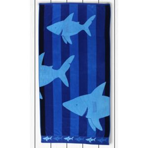 Prosop baie din bumbac DecoKing Sharky, 90 x 180 cm