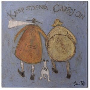 Tablou Canvas Sam Toft - Keep Strong Carry On, (30 x 30 cm)