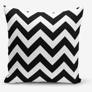 Față de pernă Minimalist Cushion Covers Stripes, 45 x 45 cm, alb - negru