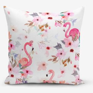 Față de pernă Minimalist Cushion Covers Flamingo Party, 45 x 45 cm