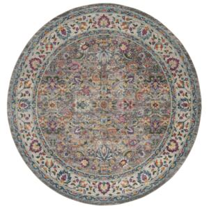 Covor Oriental & Clasic Madelyn, Rotund, Gri/Multicolor, 200x200