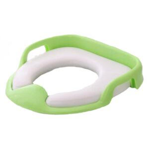 Reductor moale de toaleta cu manere Little Mom Verde