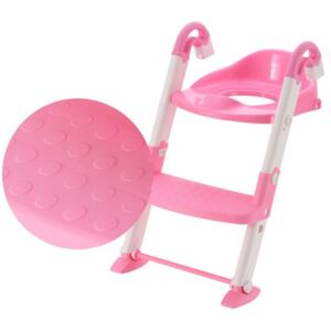 Reductor pentru toaleta cu scarita Little Mom Stair Potty Pink