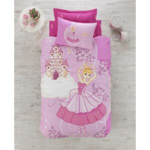 Cotton Box - Lenjerie pat 1 persoana bumbac 100 ranforce, Candy - Pink