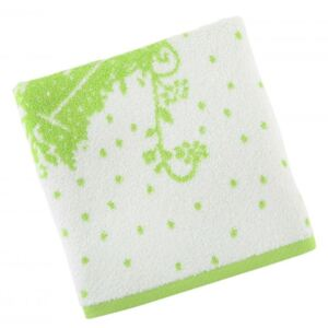 Prosop bumbac 100%, Beverly Hills Polo Club, 612 - White, Green , 50x100cm
