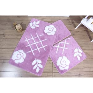 Set 3 covorase baie, Alessia Home, Pastel - Lilac