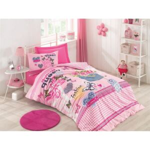 Cotton Box - Lenjerie pat 1 persoana bumbac 100 ranforce - Queen - Pink