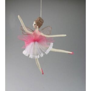 Decoratiune FAIRY PINK FLYING 29 cm - Roz
