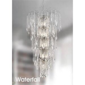 Candelabru cristal WATERFALL E14 1313-13CC SEARCHLIGHT