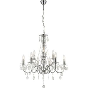 Globo WILLIAM WILLIAM 63129-9 Lustre Cristal crom 9 x E14 max. 40w 153 x 63 x 63 cm