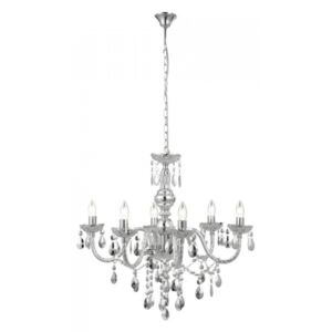 Globo CUIMBRA I CUIMBRA I 63117-6 Candelabre, Lustre acril crom 6 x E14 max. 40w 166 x 67 x 67 cm