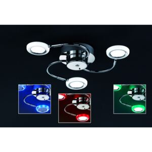 Trio TURNER 624410306 Plafoniere crom metal incl. 3 x SMD, 4,2W, 3000K, 400Lm 400lm 3000K IP20 A+