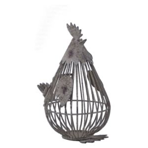 Decorațiune metalică Ego Dekor Chicken, 15 x 26 cm