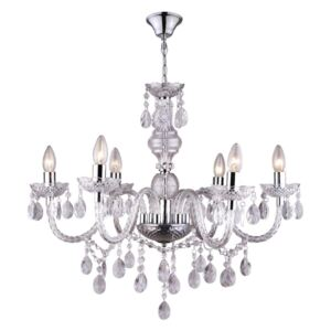 Globo 63116-6 Candelabre, Lustre CUIMBRA I crom 6 x E14 max. 40w IP20