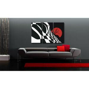 Tablou pictat manual POP Art Abstract Chessboard 3-piese 120x80cm ()