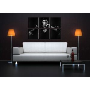 Tablou pictat manual POP Art SCARFACE-AL PACINO 6-piese 150x100cm ()