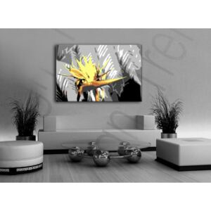 Tablou pictat manual POP Art Flower 1-piese 120x80cm