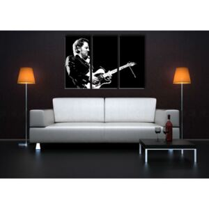 Tablou pictat manual POP Art Bruce Springsteen 3-piese 120x80cm ()