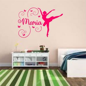 Sticker perete personalizat My Name Girl 18