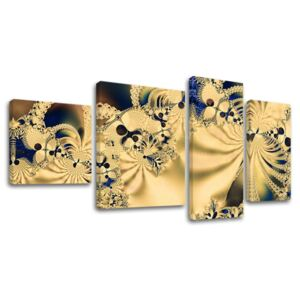 Tablouri canvas 4-piese ABSTRACT AB007E40 (tablouri moderne pe)