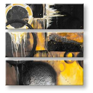 Tablouri pictate manual pe canvas DeLUXE ABSTRACT 3 piese 032D3 ()