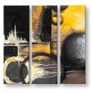 Tablouri pictate manual pe canvas DeLUXE ABSTRACT 3 piese 033D3 ()