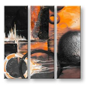 Tablouri pictate manual pe canvas DeLUXE ABSTRACT 3 piese 034D3 ()