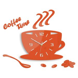 Ceas de perete COFFE TIME 3D ORANGE HMCNH045-orange (ceas)